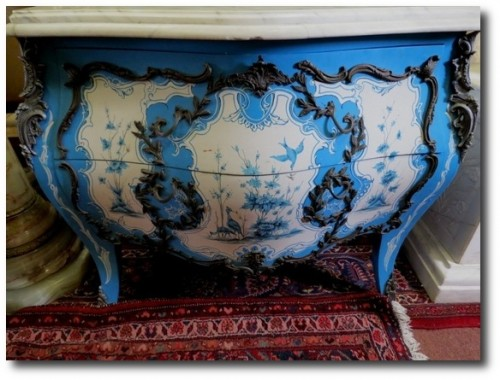 Italian Commode w White Marble Top Live Auctioneers