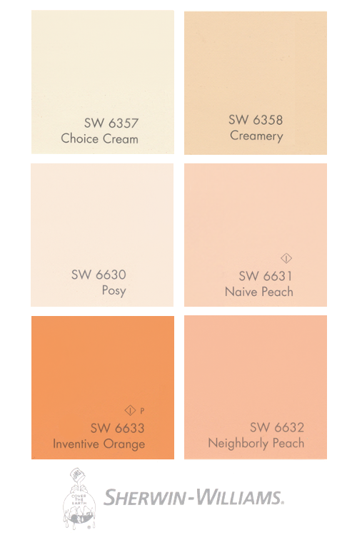 How to work with salmon paint shades such as apricot for Sherwin and williams paint