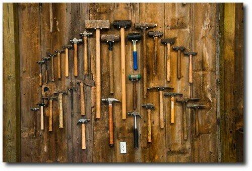 Beautiful Tool Displays - Garage Organization Ideas- Unknown Source