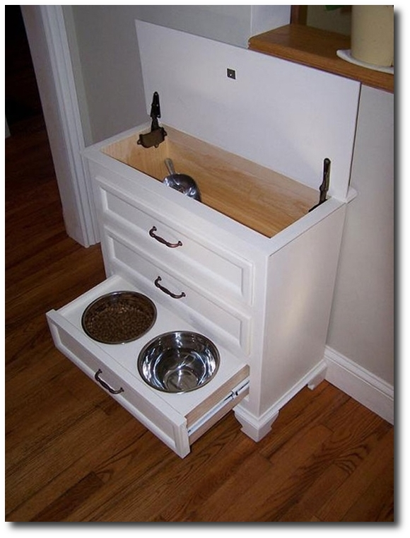 Pet Feeding Hutch Designed By Bailey Fine Pet Furniture