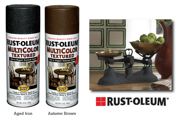 aged metal sprays seen on hersite. Black Bedroom Furniture Sets. Home Design Ideas