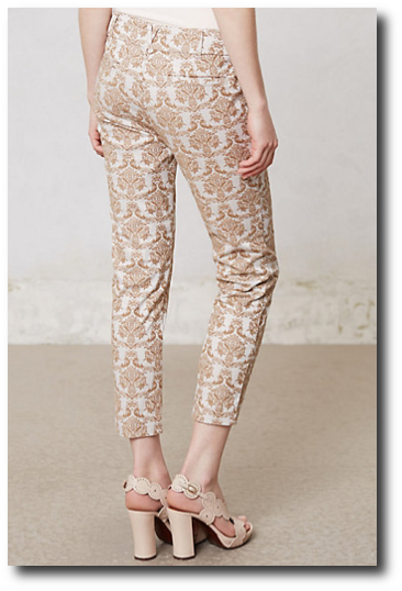 Anthropologie Brocade Charlie Trousers