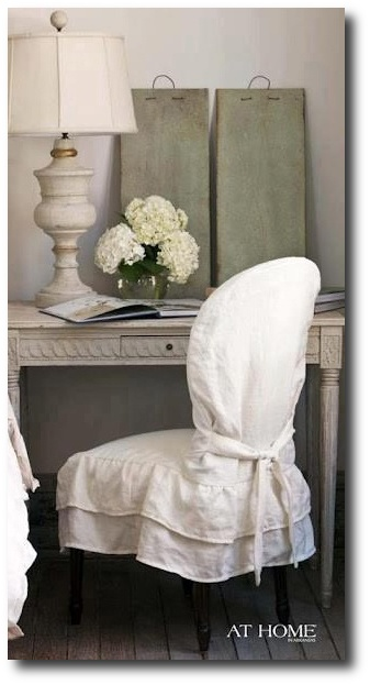 At Home - Chair Slipcovers, Painted Furniture
