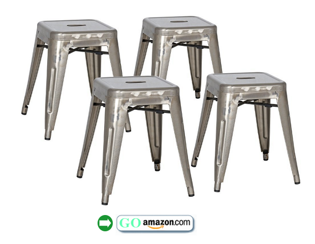 "Set of 4 Stovall 18"" High Metal Stools $759 On Amazon"