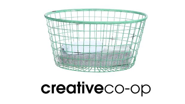 Decorative Oval Metal Basket, Blue $63 Amazon