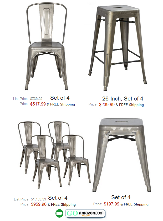 Stovall Industrial Gun Metal Furniture