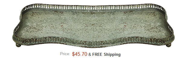 Vintage Reproduction Metal Tray $45 On Amazon