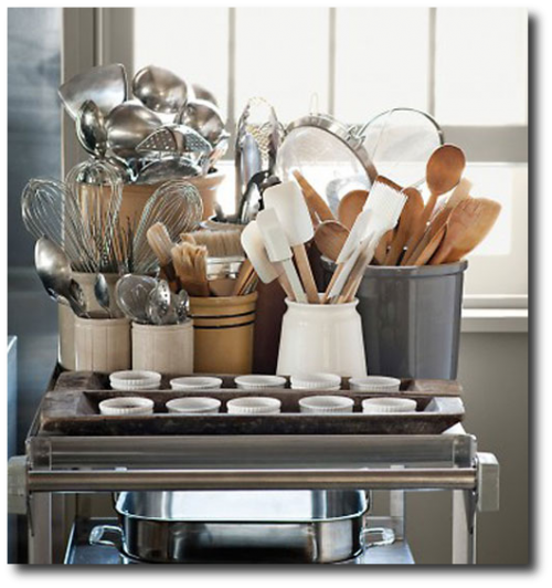 Martha Stewart Organizes Her Utensils By Metal and Wood