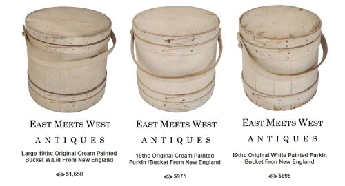 Painted Ferkins East Meets West Antiques