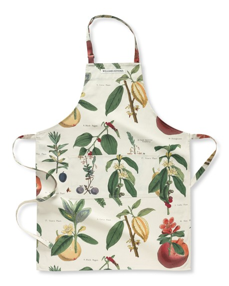 Botanical Guava Pomegranate Apron Williams-Sonoma