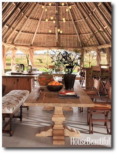 Indoor-Outdoor Living in Kenya Seen In Home Beautiful