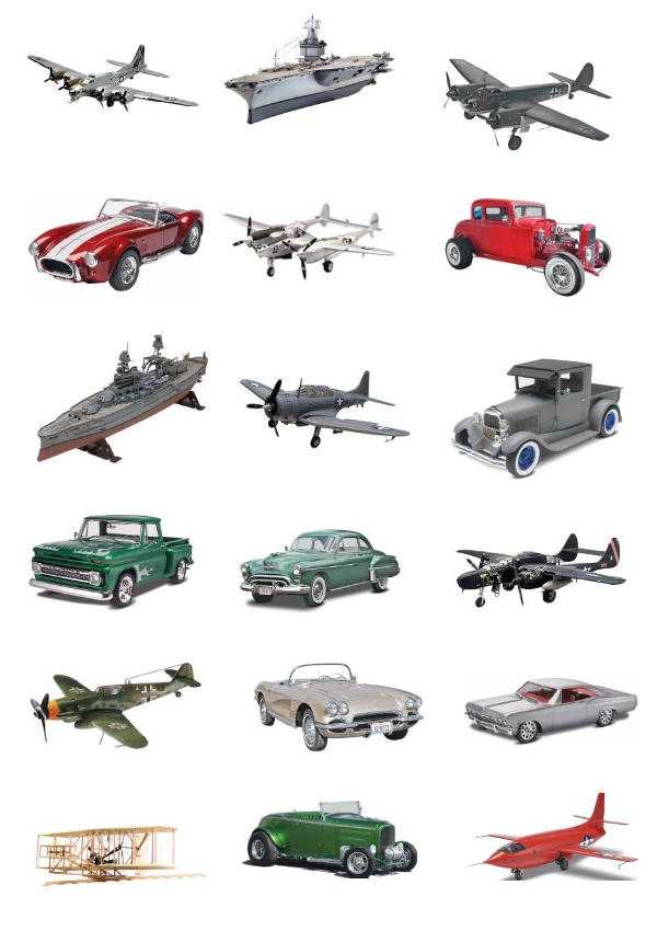 Reproduction Toy Models By Revell