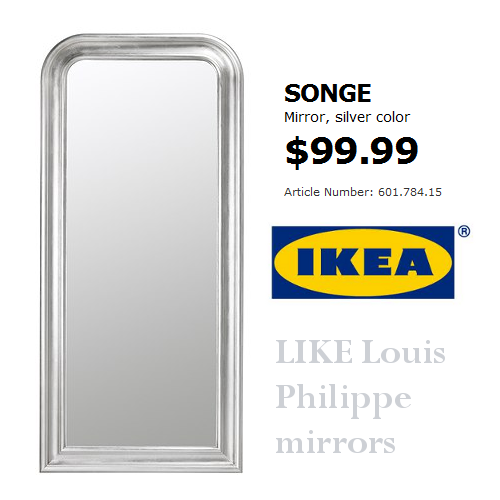 This ikea mirror looks just like the French Louis Philippe Mirrors-$99 At Ikea