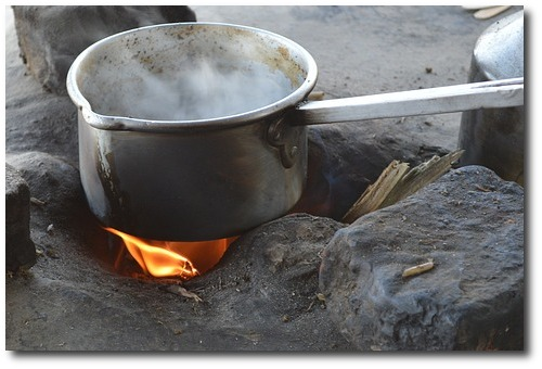 tea pot stove tea fire cooking pot camping - Pixabay