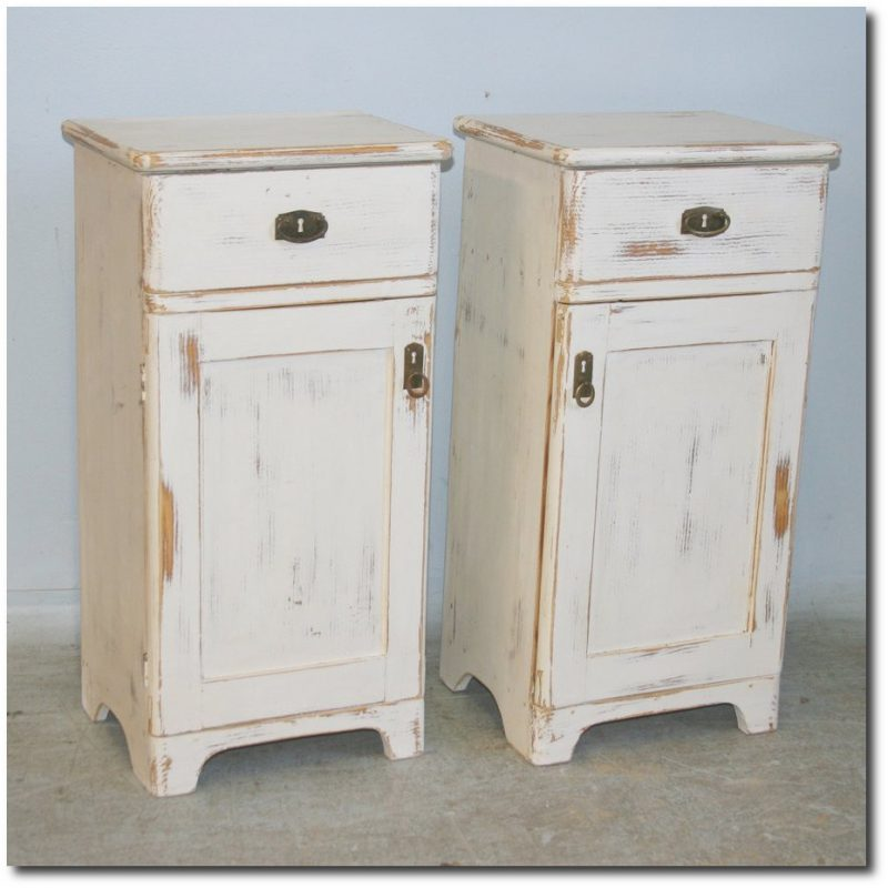 Antique White Painted Small Nightstands  Romania 1920 s Scandinavian  Antiques Ebay. Swedish   Danish Antiques