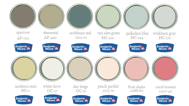 Benjamin Moore's 2014 Paint Palette Yearly Trends