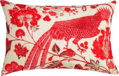 Crimson and Creme flair inspired by an antique Indian chintz.