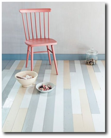 DIY Painted Floor