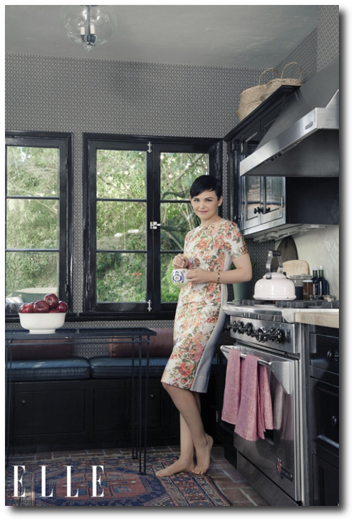 Ginnifer Goodwin in her L.A. kitchen