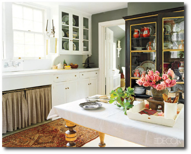 Oriental Rugs In The Kitchen Elle Decor
