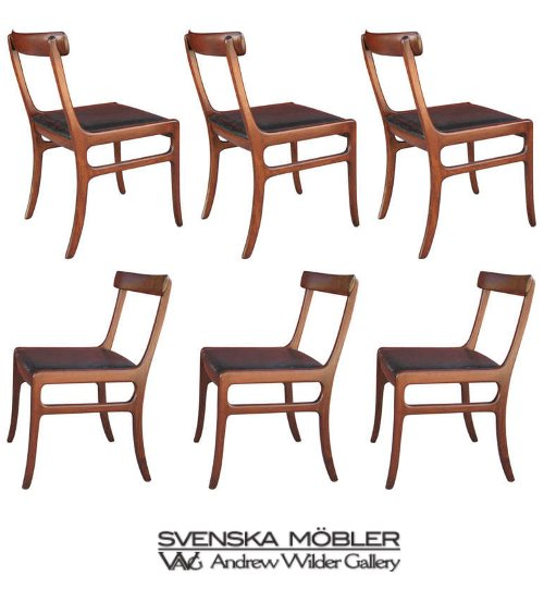 Six Ole Wanscher Mid-Century Modern Danish Dining Chairs