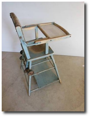 Antique HIGH-CHAIR which turns into PLAY TABLE Cour De Alene Craigslist -