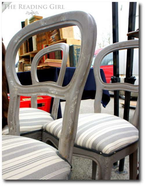 Beautiful Gray Painted Chairs The Reading Girl Blog