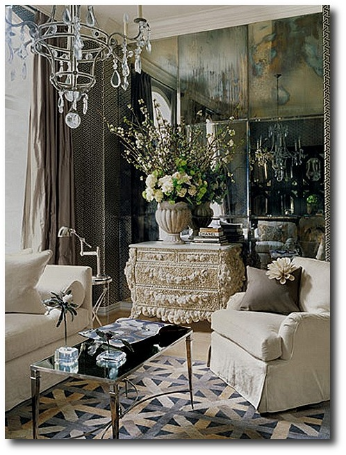decorating with venetian mirrors houston home of renea abbott and greg manteris as seen in