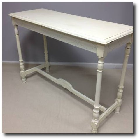 Shabby Chic French Country Distressed Library Table Sofa Table - $125 (Woodstock)