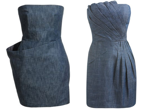Arden B. ($69) is carrying a denim tube dress with pleated seams at the neckline and waist. Denim Wrap Dress. Visit lyst
