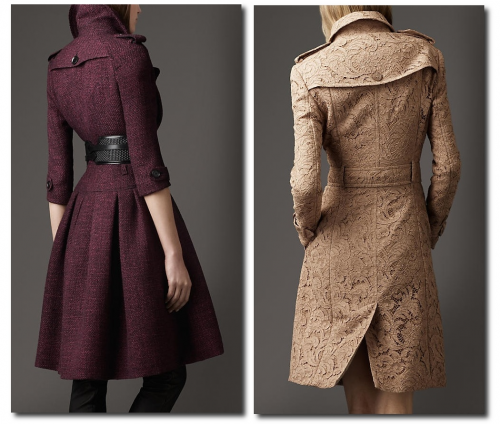 Burberry Lace Coat, Burberry -Full Skirted Tweed Coat