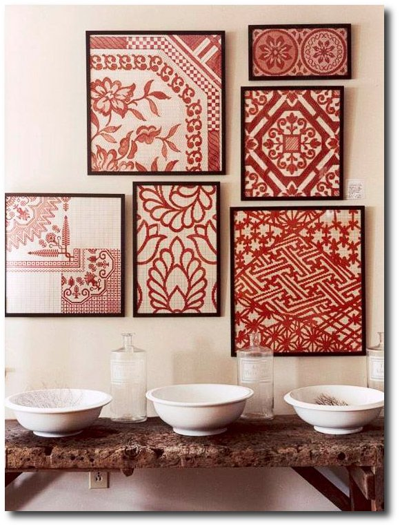 Cross Stitch, Wallpaper Fill Up A Wall - Better Homes And Gardens