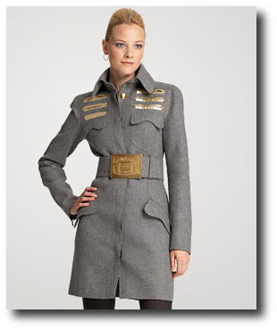 Double Felt Wool Military Coat Dior