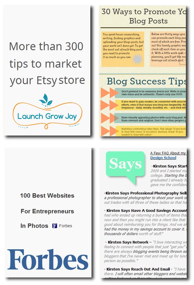 79 links to the very best work at home business articles