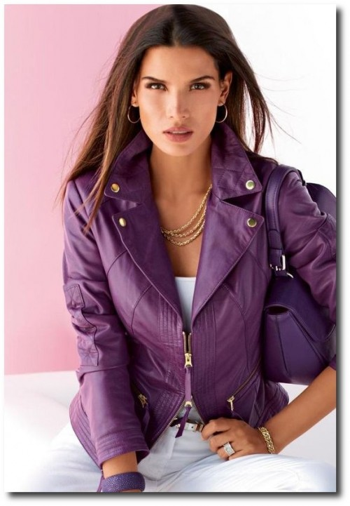 MADELEINE group Spring 2013 Collection. Purple leather!