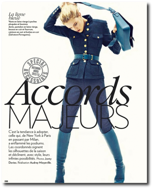Marie Claire France October 2012-Editorial Dana Drori
