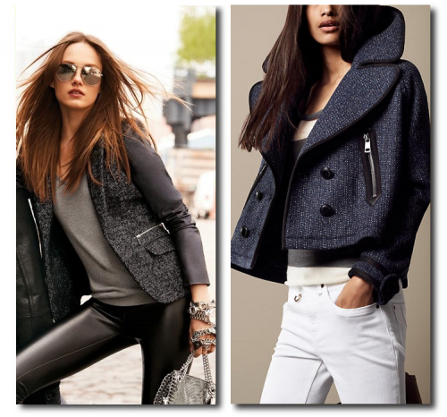 Michael Kors, Burberry Brit Oversize Cropped Pea Coat