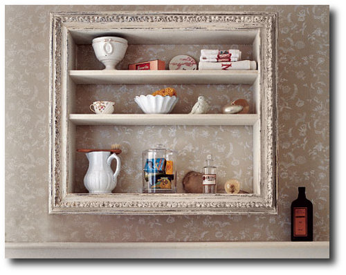 Picture Frame Turned Shelf From Country Living Magazine