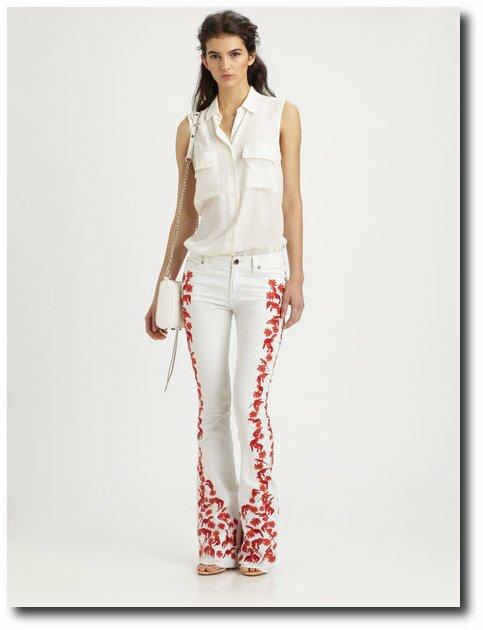 Rebecca Minkoff White Jeans