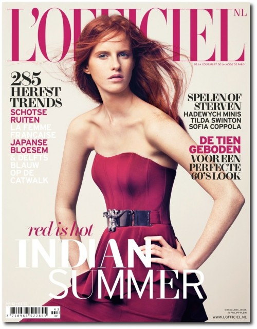 Rising star Magdalena Jasek is the latest cover beauty of L'Officiel Netherlands