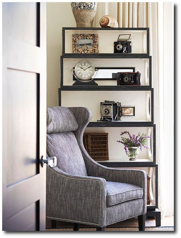 Square Boxes Make A BookShelf - Better Homes And Gardens