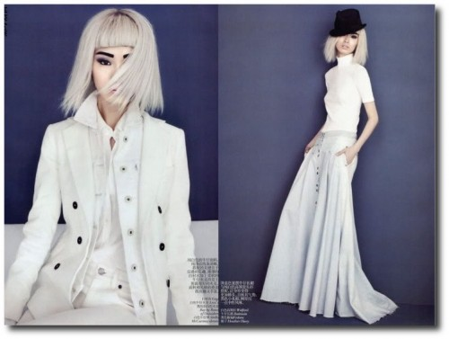 Vogue China February 2012 Couture Denim