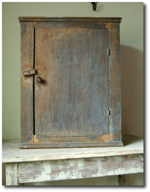Early Blue Wall Cupboard
