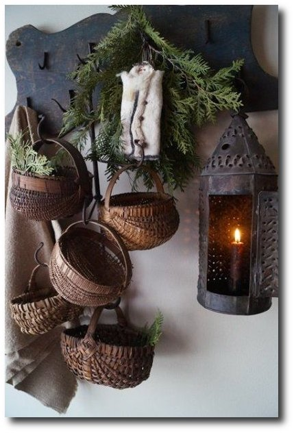Primitive Interiors - Baskets Hanging
