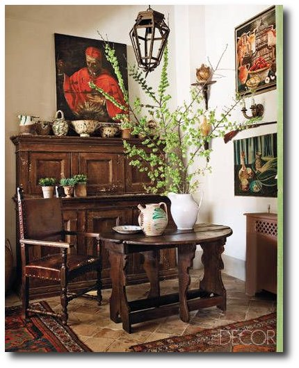 17th-century Tuscan, and 16th-century table from Umbria- Elle Decor