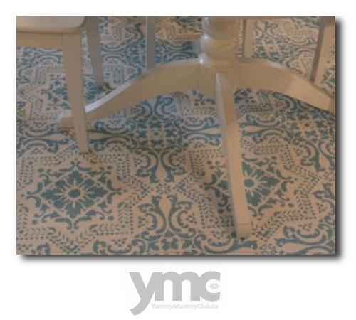 DIY Stenciled Painted Floor Rugs