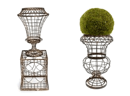Architectural Wire Urns