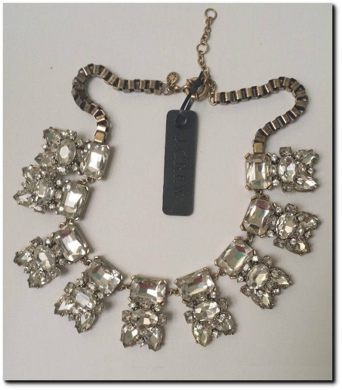 J Crew Crystal Stone Necklace