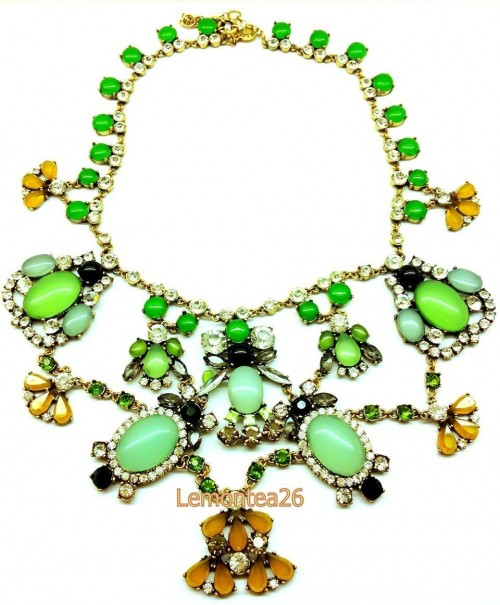 J Crew Color Stone Statement Necklace