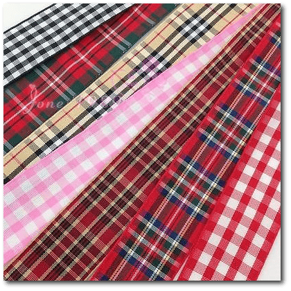 Wholesale Plaid Ribbons